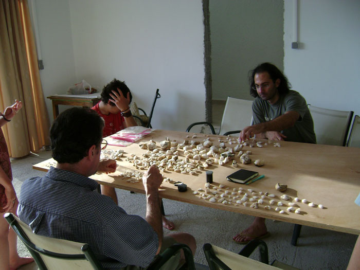 Plakias team members at work in the lab.
