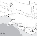 Map of Plakias and Preveli Gorge area showing location of Mesolithic and Palaeolithic sites.