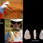 Dr. Panagopoulou finding Palaeolithic tools in terra rossas at Preveli 7.